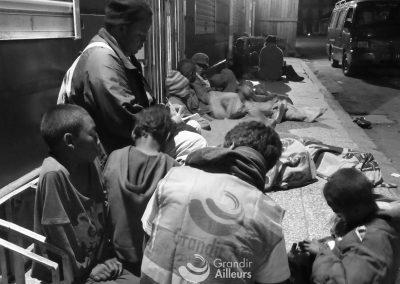 Entretien individuel avec les enfants des rues