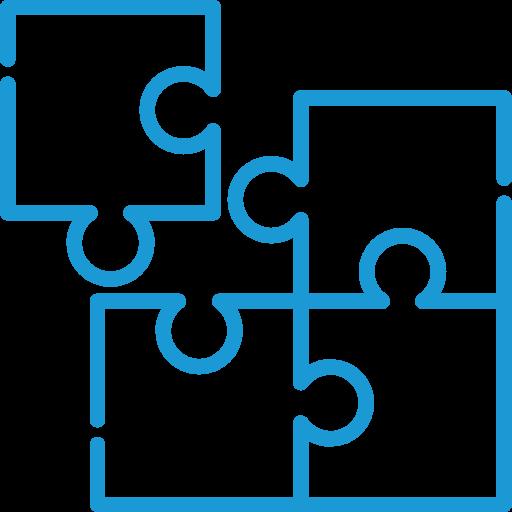 icone bleue famille