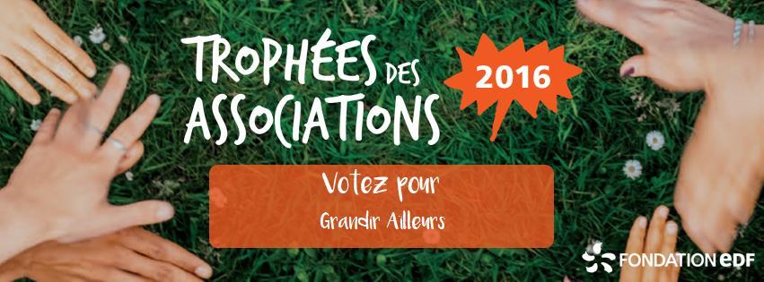 Grandir Ailleurs participe au Trophée des Associations de la Fondation EDF