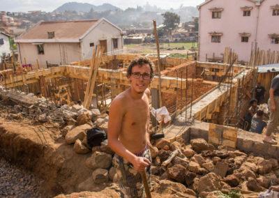 28 août 2017 - Thibault au chantier
