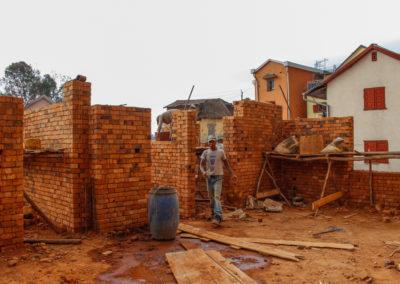 28 septembre 2017 - Elévation briques 1er étage 1