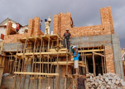 28 septembre 2017 - Elévation briques 1er étage 2