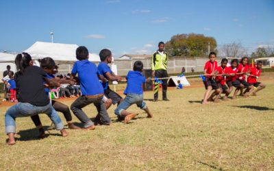 """Les enfants du CHT participent à """"Sport pour tous"""", organisé par l'OSCAPE"""