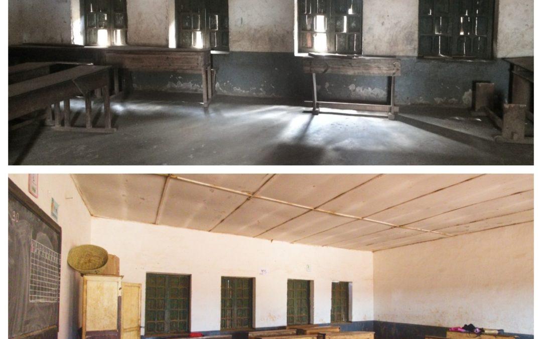 Photos: L'Ecole Primaire Publique Ivory à Antsirabé avant et après rénovation