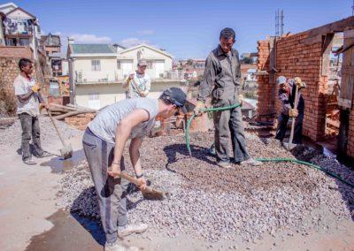 Le 25 juillet 2018 -Préparation du béton