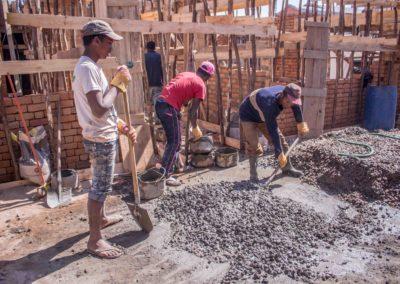 Le 9 août 2018 - Préparation du béton pour la dalle