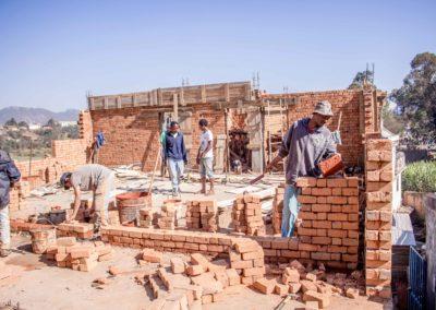 Le 30 juillet 2018 - Elévation de briques