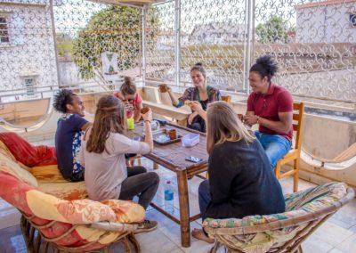 Terrasse - Maison d'hôtes à Antsirabe