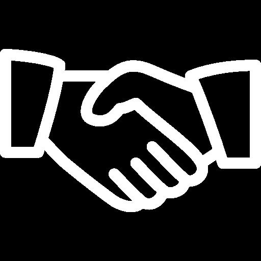 hand blanc icone