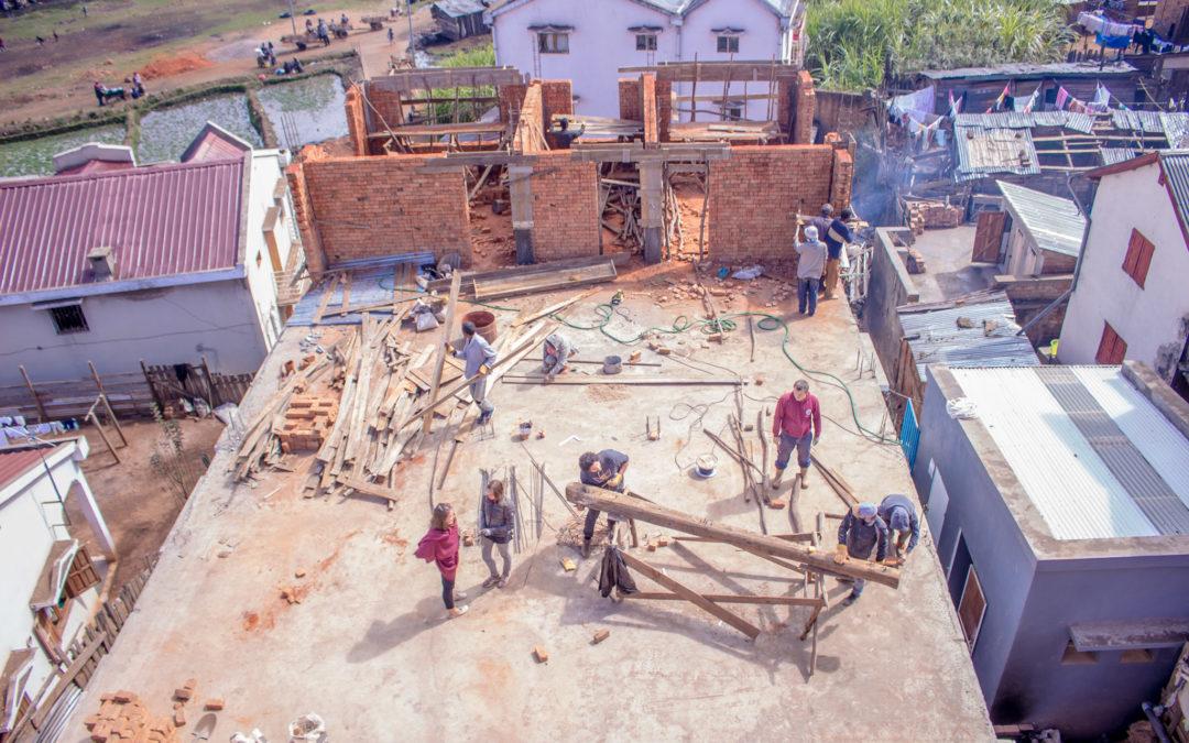L'évolution du chantier du 2e étage du CHT en time-lapes !