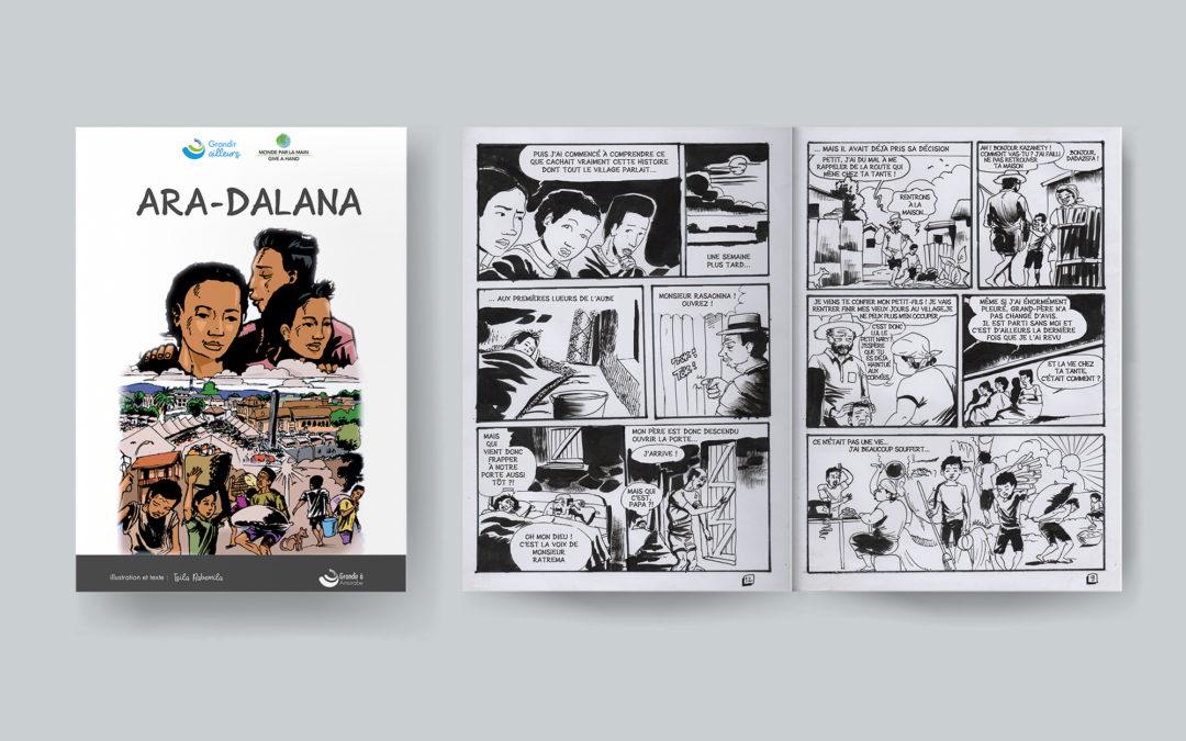 L'histoire de trois enfants de la rue à Antsirabe racontée en BD