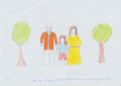 enfant avec ses parents